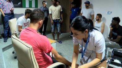 Konyasporlu futbolcular sağlık kontrolünden geçti.