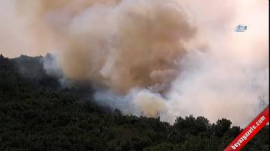 Sancaktepe'de askeri alanda yangın