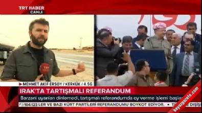 Barzani'nin peşmergeleri TRT Haber ekibini Kerkük'e almadı!