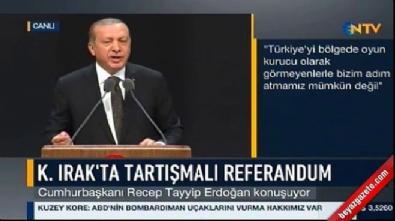 Cumhurbaşkanı Erdoğan'dan Irak'taki referanduma tepki