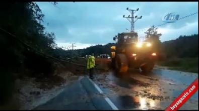 Rize'de yağış heyelanlara neden oldu