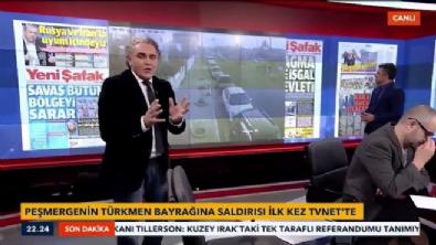 Peşmerge Türkmen bayrağına saldırdı