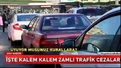 İşte 2018 yılının zamlı trafik cezaları