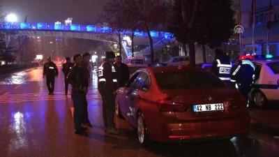 Konya'da yeni yılın ilk trafik cezası alkollü sürücüye kesildi