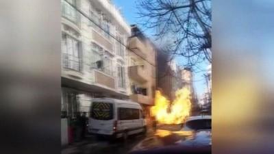Sefaköy'de doğalgaz borusu patladı