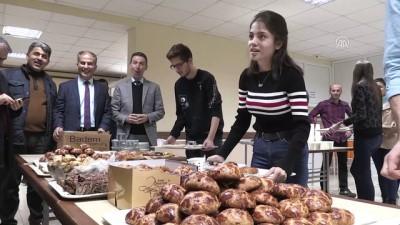 Ders çalışan öğrencilere pasta ve börek ikramı - AMASYA
