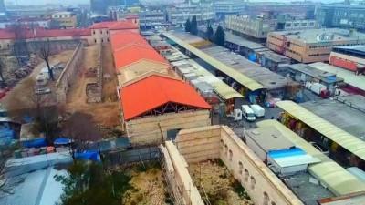Rami Gıda Toptancıları Hali'nin taşınacağı alan havadan görüntülendi