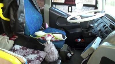Otobüsün kapısını zorladılar, açamayınca elektrik devresini kestiler