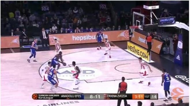 sirbistan - Anadolu Efes - Kızılyıldız: 104-95 Basketbol maç özeti (12 Ocak 2018) - Highlights