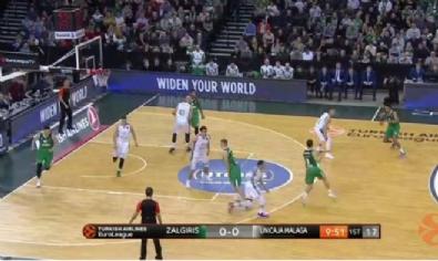 Zalgiris Kaunas - Unicaja Malaga: 79-77 Basketbol maç özeti (12 Ocak 2018) - Highlights