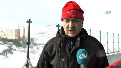 Kayak sezonu açıldı, Rus turistler Erciyes'ten memnun ayrıldı