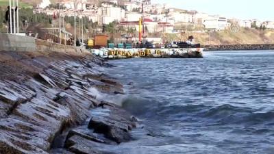Marmara Denizi'nde poyraz etkisini sürüyor - TEKİRDAĞ