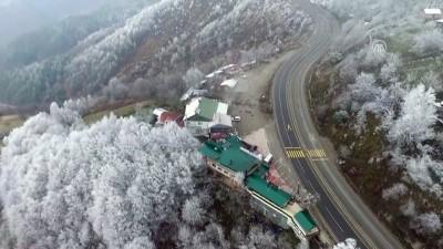 Bolu Dağı'nın kar manzarası havadan görüntülendi - DÜZCE
