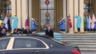 Cumhurbaşkanı Erdoğan, Katar Emiri Şeyh Temim bin Hamed Al Sani'yi kabul etti