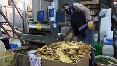 Polisten 4 milyonluk kaçak nargile tütünü operasyonu