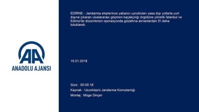 Uluslararası göçmen kaçakçılığı operasyonu - EDİRNE