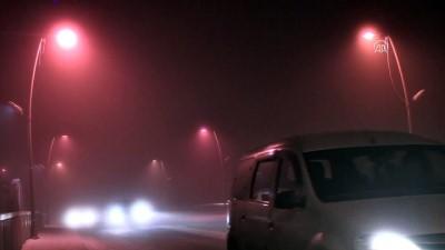 Ardahan'da sis etkili oldu