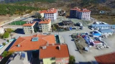 Beyşehir'de TOKİ sevinci...Konutlar havadan görüntülendi