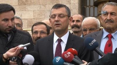 """CHP Grup Başkanvekili Özel: """"Bizlerden açıklama duymayacaksınız"""""""
