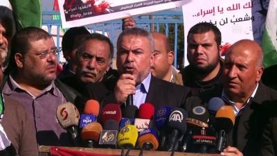Filistinli tutuklu İsra Ceabis'e destek gösterisi - GAZZE
