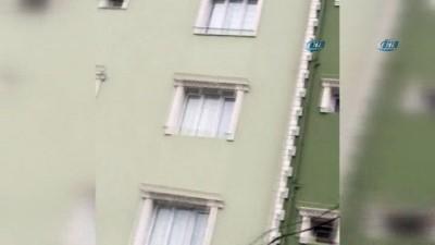 Polise yakalanan şahıs, hırsızlık amacıyla girmek istediği binada intihara teşebbüs etti