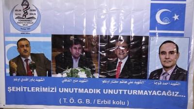 Türkmen şehitleri anıldı - ERBİL