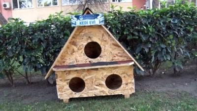 Yunusemre'deki sokak hayvanları kış aylarında üşümeyecek