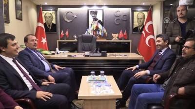 AK Parti Genel Başkan Yardımcısı Karacan'dan MHP'ye ziyaret - UŞAK