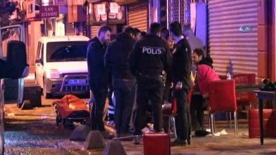 Beyoğlu'nda pidecide yaşanan silahlı saldırı kamerada