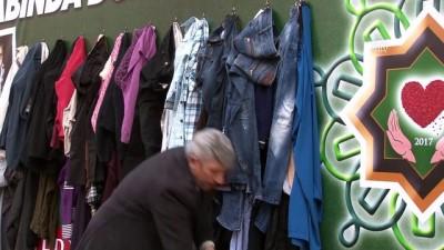 'Duvardaki elbise' ihtiyaç sahiplerini sevindiriyor - KIRIKKALE