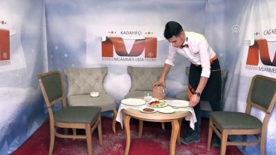 'İglo evde' cağ kebabı keyfi - ERZURUM