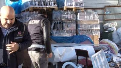 Polisten, 1 milyon liralık sahte içki operasyonu