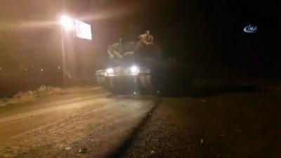 Tank ve askeri sağlık personeli Suriye sınırına ulaştı