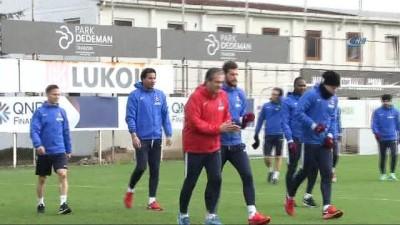 Trabzonspor, Süper Ligde oynayacağı Atiker Kıonyaspor maçı hazırlıklarını başladı