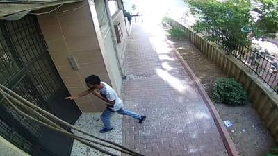 Bisiklet hırsızı kamerada