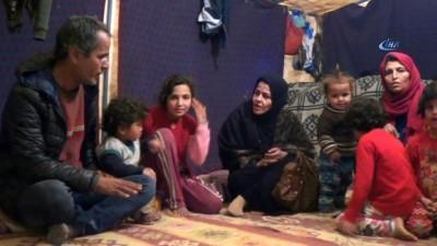 Çadırkente yerleşemeyen Suriyeliler kışı çadırlarda geçiriyor