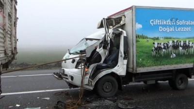 Kamyona arkadan çarpan aracın sürücüsü ağır yaralandı