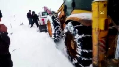 Karda mahsur kalan TEİAŞ ekibi 3 saatte kurtarıldı - TOKAT