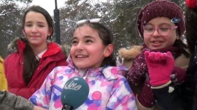 Sivas'ta çocuklar karın tadını çıkardı