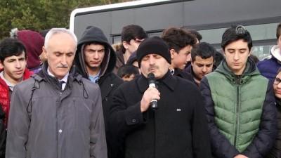 Sivas'ta öğrencilerden 'kar duası'