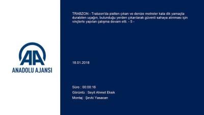 Trabzon Havalimanı'nda uçağın pistten çıkması - Denizden çekilen görüntüler (5) - TRABZON