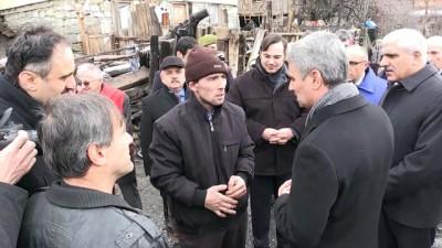 Vali Baruş, Ali dedenin yanan evi ile yeni evini inceledi - BOLU