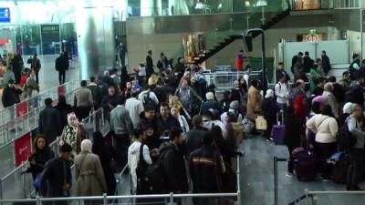 yurt disi - Atatürk Havalimanı'nda yarıyıl tatili yoğunluğu - İSTANBUL