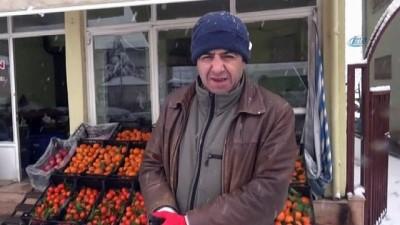 Doğanşehir'de öğrenciler karın tadını çıkardı
