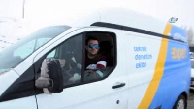 Malatya-Kayseri karayolunda kar yağışı etkili oluyor...Kayan tır nedeniyle yol trafiğe kapandı