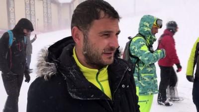 Snowboard Boardercross Dünya Şampiyonası'na kar engeli - ERZURUM