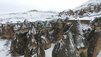 Turistler beyaz Kapadokya'ya hayran kaldı (2) - NEVŞEHİR