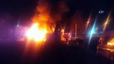 Düzce'de gece geç saatlerde çıkan yangın korkuttu