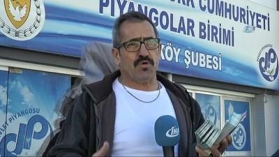KKTC'de Talihlisine Bilet Satan Seyyar Satıcı İHA'ya Konuştu