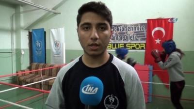 Siirtli kadın boksörler Türkiye Boks Şampiyonasına hazırlanıyor